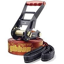 Gibbon 13855 Travelline - Set de accesorios para slackline, color marrón