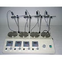 GOWE 4unidades Digital de múltiples unidades termostática mezclador agitador magnético con placa calefactora