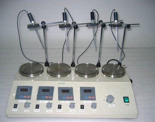 Preisvergleich Produktbild Gowe 4Einheiten Mehrzweck Digital-Thermostatische Mischarmatur Magnetrührer mit Platten