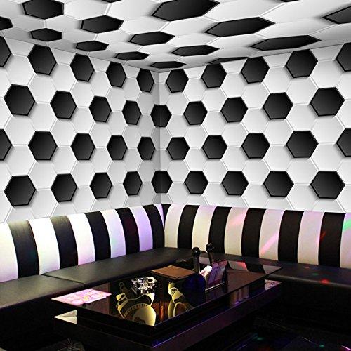Preisvergleich Produktbild Wapel Custom 3D stereoskopischen Plaid Fußball Wallpaper Tapete Boden flach Hotels Cafe Kaffee Kinderzimmer Hotel Paket Boden Tapete