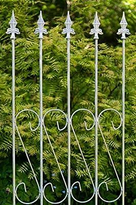 Rankgitter aus Metall 163cm x 47cm Verzinkt Rankgerüst Beetzaun, Zink von kuheiga - Du und dein Garten