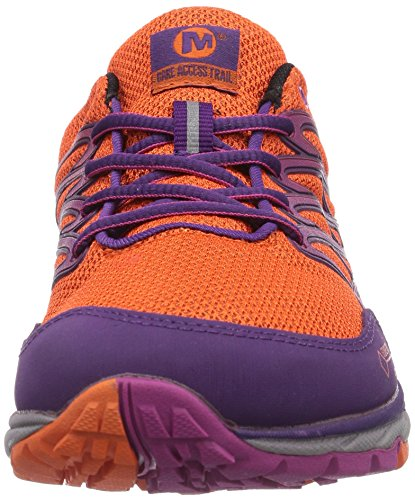 Merrell Bare Access Trail Gtx, Chaussures de  Football femme Multicolore (flame/purple)