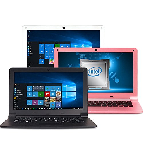 FANCY CHERRY® HD 11.6 inch Ultrabook Laptop Notebook Computer Windows 10 Intel Quad Core Atom 1.33Ghz Processor 2GB RAM 32GB eMMC Storage USB WIFI HDMI Camera Speaker Keyboard (11.6inch 32GB -Pink)