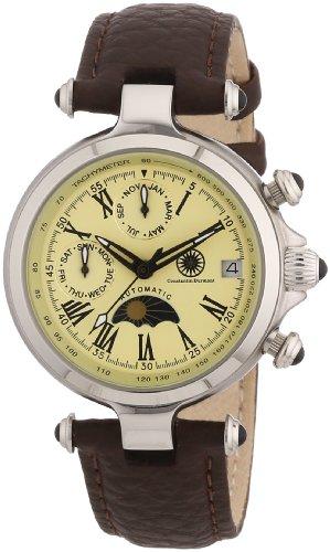 Constantin Durmont - Reloj analógico para mujer de cuero beige