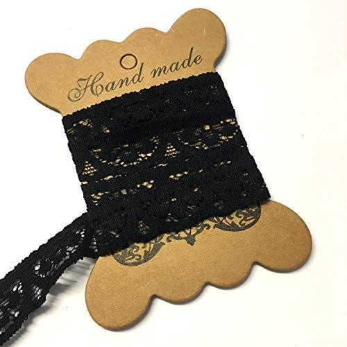 5metros, negro Lacy braga elástica, elástica de encaje elástico de 17mm