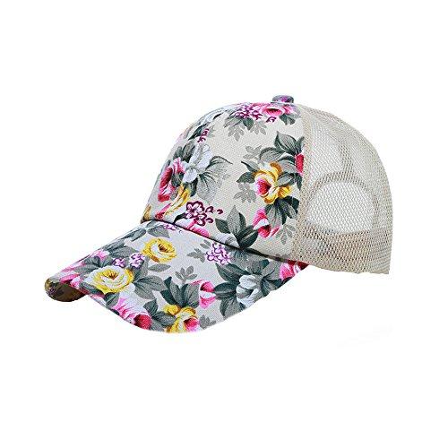 Surker Womens r¨¦glable et respirante Anti-Sun Baseball Caps CL03424 Beige