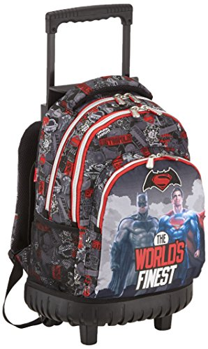 Batman & Superman Finest Compact Carro Fijo, Color Negro