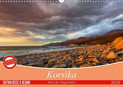 Korsika - Insel der Gegensätze (Wandkalender 2020 DIN A3 quer): Korsika ist Romantik, Schönheit, Stille und Abenteuer. (Monatskalender, 14 Seiten ) (CALVENDO Orte)