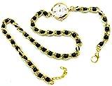 Damen-Uhren Wickel-Armband-Uhr gold Perlen-Armband schwarz gold elegant moderne Damen Uhr Wickel-Armbanduhr 5249