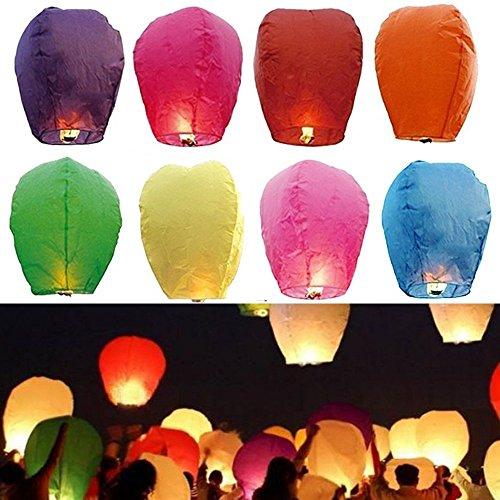 apier Chinesische Fliegen Laternen Fliegen Kerze Lampen für Weihnachten, Silvester, Wunsch Party & Hochzeiten (Laterne-ring-farben)