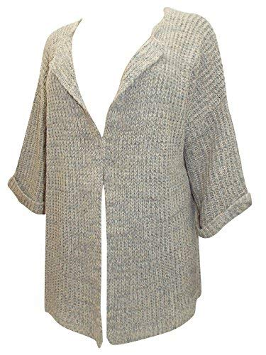 holidaysuitcase Holiday Holiday Suitcase Damen Übergröße super weich Saum zu Saum Taupe Strickjacke 22-32 UK - Braun, 50/52, Braun