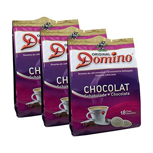 3x DOMINO Kaffeepads Schokolade (á 18 Pads)