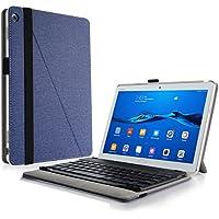 Huawei Mediapad M3 Lite 10 Teclado Funda, Infiland Ultra fino Slim Keyboard Case con Magnético Desmontable Teclado Bluetooth Inalámbrico para Huawei Mediapad M3 Lite 10(10.1 Pulgada)Tablet(Azul Oscuro)