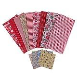 IPOTCH 39 Stück Baumwollstoff Stoffpakete Stoffe Baumwolle