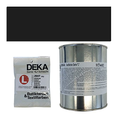 Preisvergleich Produktbild NEU DEKA-Textilfarbe Serie L, 500g, Tiefschwarz
