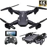 Teeggi VISUO XS816 4k Drohne mit Kamera Live Video, WiFi FPV RC Quadcopter mit 4k Kamera Faltbare Drohne für Anfänger - Höhe halten Headless-Modus EIN Schlüssel aus / Landung APP-Steuerung Lange