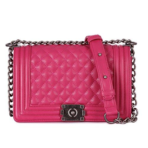 Mefly Nuova serratura catena diamante borsa tracolla singola borsa a tracolla blu navy Rose red