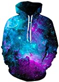 AMOMA Jungen Digitaldruck Kapuzenpullover Tops Fashion Hoodie Pullover Hooded Sweatshirt (Small/Medium, Interstellar)