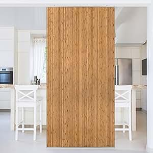 panneau rideau bamboo 250x120cm support au choix panneau. Black Bedroom Furniture Sets. Home Design Ideas