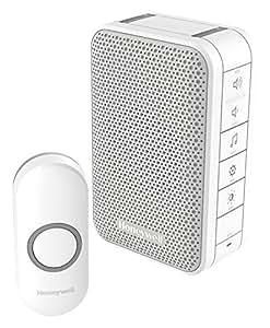 Honeywell Series 3 Portable Wireless Doorbell 150m White DC313N by Honeywell
