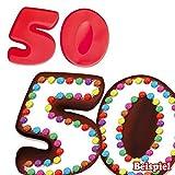 Silikonbackformen 5 & 0 für 50. Geburtstag, Kuchenformen aus Silikon im Partyset