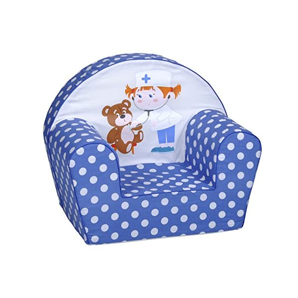 Knorrtoys 68325 knoortoys Child Chair-Teddy Doc, Multi Color Knorrtoys Real eye-catcher in any children's room thanks to its great colour and bright print Beautiful and also really comfortable Load capacity up to 30 kg 2