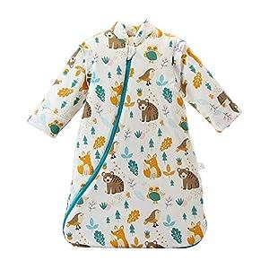 Saco de Dormir Unisex Baby Winter, Mangas Desmontables, algodón orgánico, Sacos de Dormir Acolchados, Saco de Dormir…
