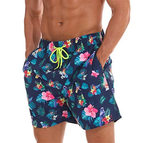 D&CiCiRi Schnell trocknende Sommershorts Herren Print Beach Board Shorts Surf Siwmwear Bermudas Swim Bird Flower M -