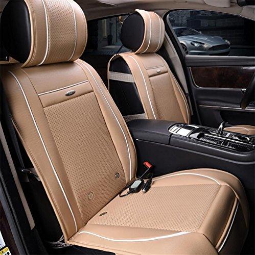 DIELIAN Abkühlende Heizung, die justierbares massiert Autositz-Kissen Beheizbare Sitzauflage 12V , Beige