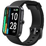 LATEC Smartwatch, 1,69 cala Fitness zegarek na rękę dla kobiet i mężczyzn, zegarek sportowy z pulsometrem, trybem pływania, A