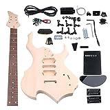 yibuy arce DIY HSH pastilla 1Tone 1volumne pomos EPS Kit de guitarra eléctrica Builder traje con todos los accesorios para los amantes del DIY