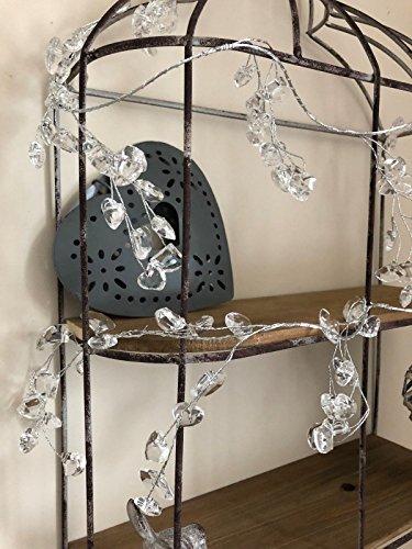 Homes On Trend Acryl Herz Perlen Girlande L150cm Crystal Strand Diamanten Hochzeit Party Decor Crystal Shaker