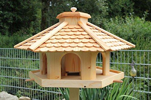 Vogelhaus Vogelhäuser-(V52)-Vogelfutterhaus Vogelhäuschen-aus Holz- -Lärche
