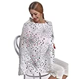#3: Motherly Nursing Breastfeeding Cover Scarf Cloth- Breast Feeding shawl (Black/Red Birds Print)