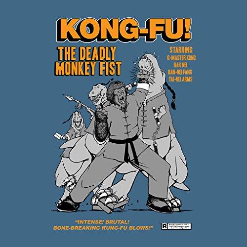 Kong Fu The Deadly Monkey Fist Comic Book Women's Hooded Sweatshirt Indigo Blue