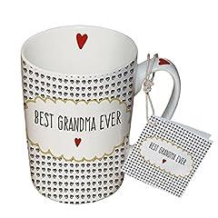 Idea Regalo - PPD 551279, Tazza/Mug per Caffé/té/Cappuccino Best Grandma Ever - La Migliore Nonna di Sempre