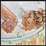 sunnymi 5D Diamant Malerei, ❤️ Rotweinglas Teil Diamant Zeichnung DIY Stickerei Gemeinsame Painting Kreuz Stich Diamond Dekoration (Fette Frau, 30x30cm)