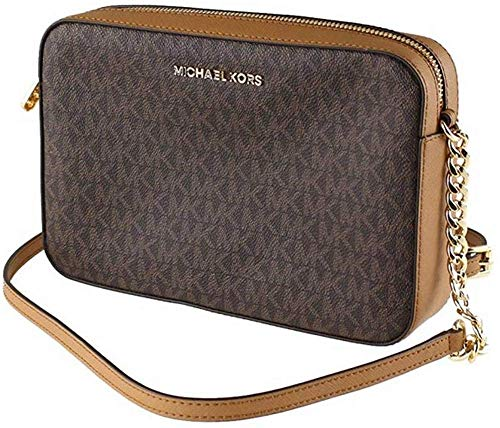 Michael Kors Jet Set Item Large Crossbody Brown/Acrn (35F8GTTC3B)