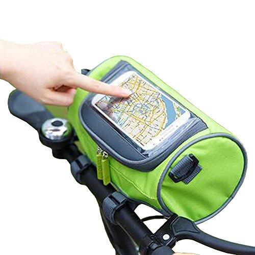 Fahrradtasche Radfahren Fahrrad Falt vorne Lenkertasche mit Touchscreen Fenster für Handy Schwarz