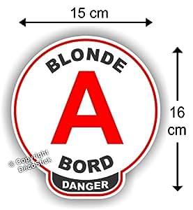 disque a jeune permis blonde bord danger humour bricolage. Black Bedroom Furniture Sets. Home Design Ideas