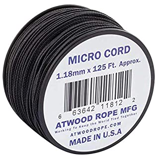 Atwood Rope Micro Cord 1,18 mm - 38 m, Schwarz