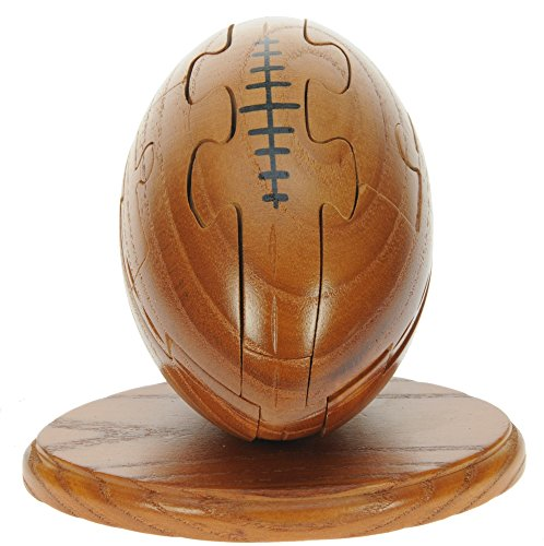 Namesakes Rugby Ball 3D Wooden Jigsaw Puzzles + Keyring : Gift for Grown Ups & Children : Novelty Brain Teasers Toy for Adults kids & Sport Fans : Unique Fun Xmas Stocking Filler