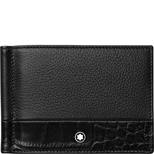 Montblanc 118754 Meisterstück Soft Grain Brieftasche 6 Cc Klein Leder 11,5 X 8 Cm Mit Geldclip Schwarz