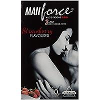 Manforce 3 in 1 Wild Ribbed Contour punktierte Kondome - (Erdbeere, 10 Stück) von GladnessEra preisvergleich bei billige-tabletten.eu