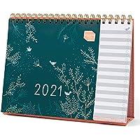(en inglés) Planificador mensual Everyday de Boxclever Press. Calendario 2021 enero-diciembre'21. Calendario 2021 sobremesa con listas de tareas por hacer para teletrabajo o planificación personal.