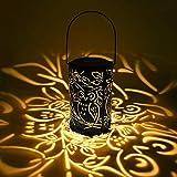 Lanterna Solare, Lacyie Solari da Giardino IP44 Impermeabile all'aperto lampada Calda Luce Notturna Bianca per Prato Percorso del Giardino Decorative