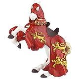 Papo 39340 - Pferd von Richard Löwenherz, Spielfigur, rot