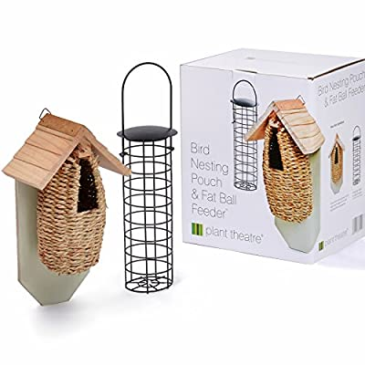 Plant Theatre Bird Nesting Pouch and Fat Ball Feeder - Ideal Mothers Day Gift by Plant Theatre