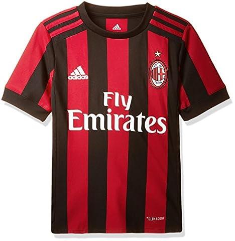 AC Milan 17/18 Home Kids S/S Replica Football Shirt - Victory Red/Black - size Medium Boys 28-30