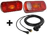 Aspöck Midipoint 2 -- 13 pol komplett Set Leuchten und Kabel 5 Meter